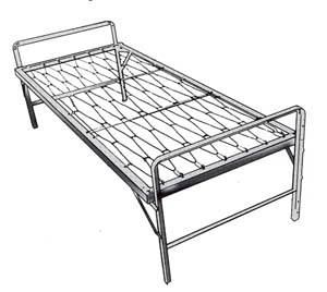 Army Style Single Bed 1111 (RO)