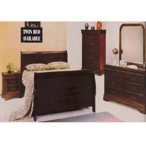 Louis Phillipe Bedroom Set 1121 (WD)