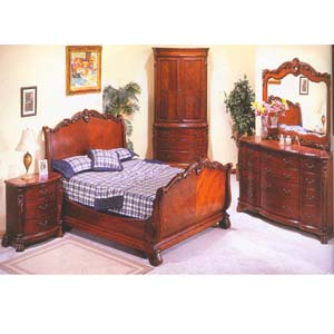 Kensington Manor Sleigh Bedroom Set 1123 (WD)
