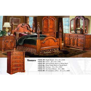 Monaco Bedroom Set 1145 (WD)