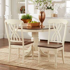 Mackenzie Country Antique White Side Chair (Set of 2)
