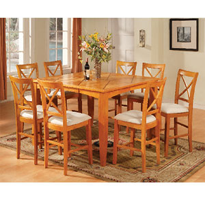 Superieur Maple Counter Height Dining Set 1247 T/ST (WD)