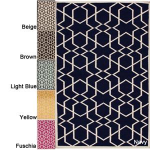 Handmade Flatweave Marrakesh Kilim Wool Rug 14377434(OFS403)