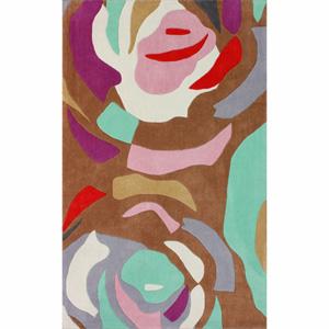 Handmade Modern Abstract Multi Rug 14806075(OFS188)