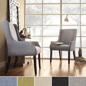Jourdan Linen Sloped Arm Hostess Chair 15857948(OFS)