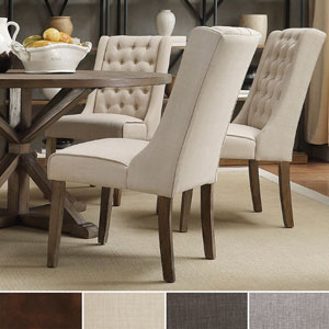 Evelyn Tufted Wingback Hostess Chairs (Set of 2)