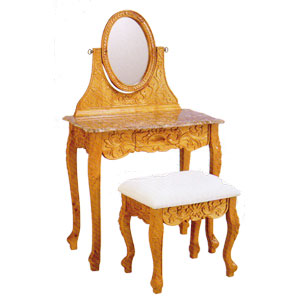 Marble Top Vanity Set w/ Stool 1754_ (ITM)