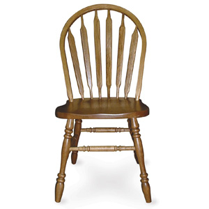Solid Wood Arrowback Side Chair Medium Oak 1050(ICFS)