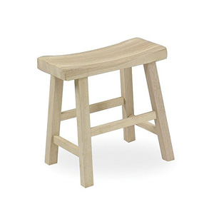 Solid Wood Unfinished Stool 1S-681(ICFS)