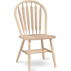 Unfinished Plain Leg Windsor Arrow Back Chair 1C-113 (IC)