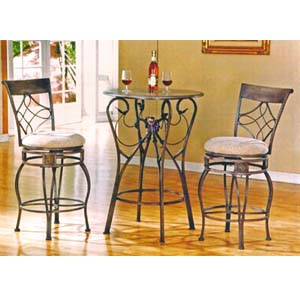3-Piece Renaissance Pub Table & Bar Stools 2031/3031_ (ML)