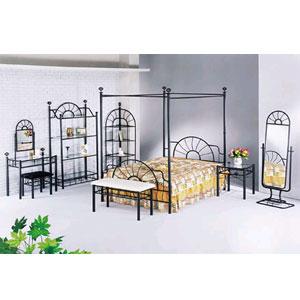 Sunburst Style Canopy Bed 2084  (A)
