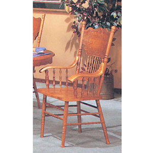 Double Press Back Arm Chair 2186C (A)
