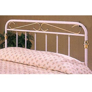 Headboard In White And Gold 22_ (COFS50)