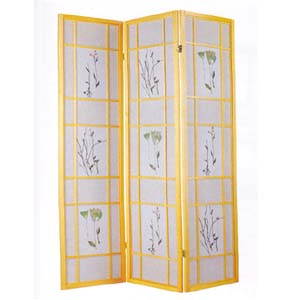 3 Panel Natural Finish Wooden Screen 2252 (A)