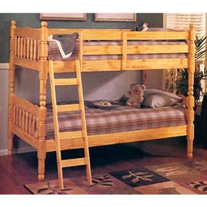 Natural Wood Bunk Bed  2299 (A)