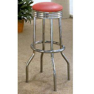 Chrome Plated Bar Stool With Cushion Seat 2299 (CO)