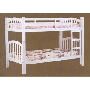 White Finish Twin/Twin Bunk Bed 2354 (A)