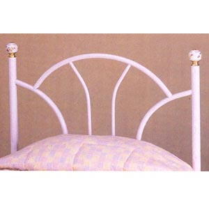 White Fan Design Twin Size Headboard 2365W (CO)
