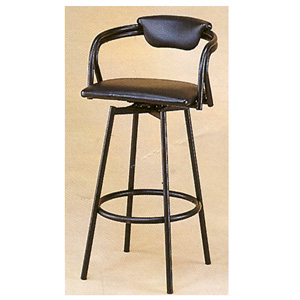 Satin Black Metal Bar Chair 23_ (CO)