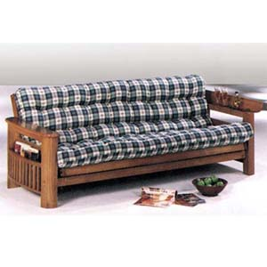 Oak Finish Wooden Futon 2441
