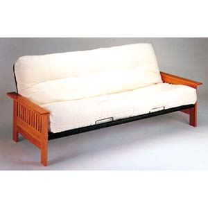 Mission Style Wood And Metal Futon Sofa Bed 2511 Iem