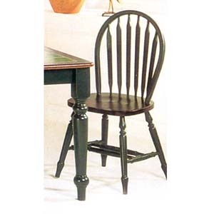 Oak/Green Arrow Back Windsor Chair 9714(WD)