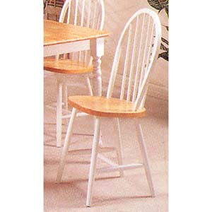 Natural/White Finish Windsor Chair 2613NW (A)