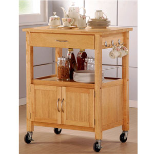 Oakfield Wood Top Kitchen Cart 2702 (A)