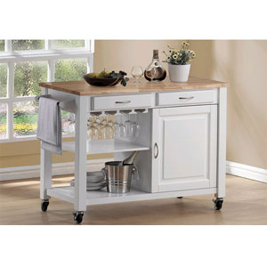 Wood Bury Kitchen Cart 2704 (A)