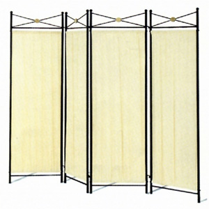 Four Panel Screen with Black Medalion 2707(CO)