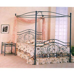 Queen Size Textured Verde Head/Footboard W/Canopy 2886Q(CO)