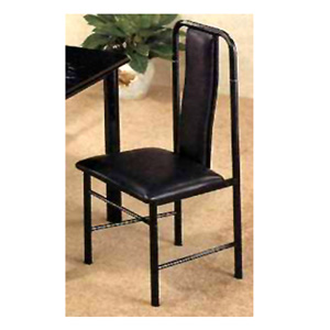 Black Padded Seat And Back 2912 (CO)