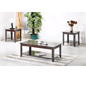 Cherry Finish Occasional Table Set 2987 (WD)