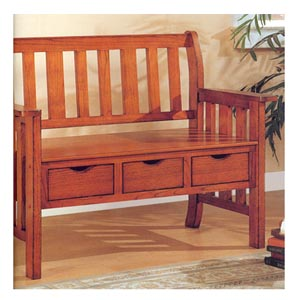 Brown Cherry Storage Bench 300075 (CO)