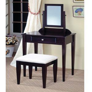 Vanity Table Set in Cappuccino 300079 (COFS36)