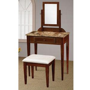 Faux Marble Top Vanity Set 300084 (CO)