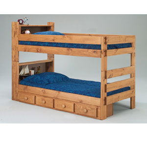 Twin/Twin Bookcase Bunk Bed 3015(PC)