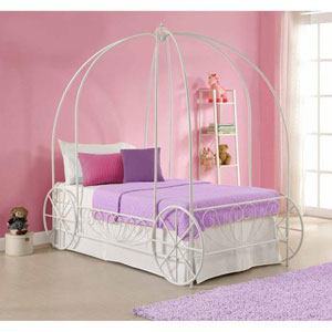 Metal Twin Carriage Bed 3259098(WFS)