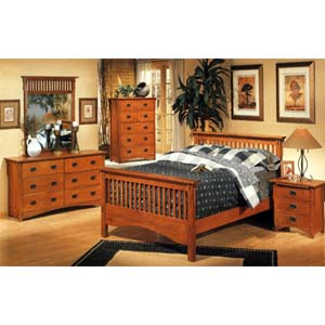 5-Piece Mission Style Bedroom Set 3291_ (CO)