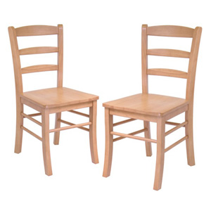Solid Wood Set Of 2 Hannah Dining Chairs 34232(WWFS)