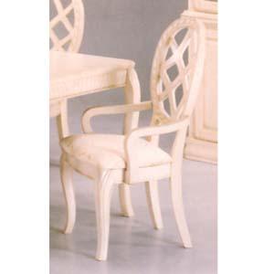 White Wash Finish Arm Chair 3517A (IEM)