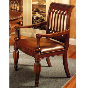 Italian Provincial Leather Arm Chair 3531 (COu)