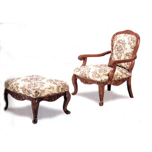 Cherry Finish Chair And Ottoman 3613/14 (CO)