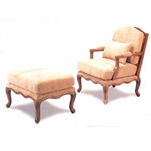 Traditional Chair And Ottoman 3615/16 (CO)