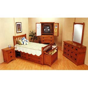 piece mission style oak finish bedroom set 3791 co idollarstore