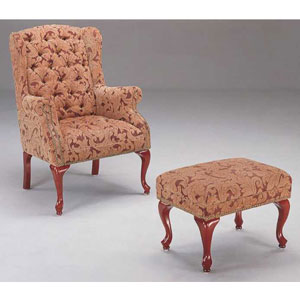 Wing Chair and Ottoman 3932B (CO)