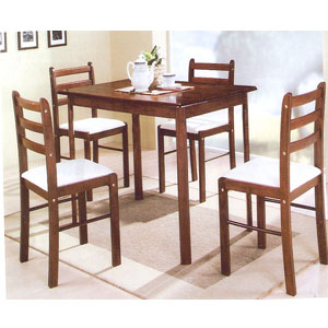 5 Pcs Solid Wood Dinette Set 4005CA(PJ)