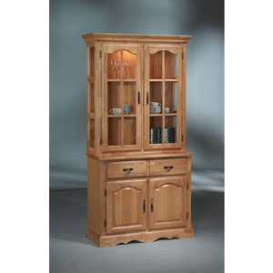 Solid Wood Hutch & Buffet W/Lighting 401BH_(SB)