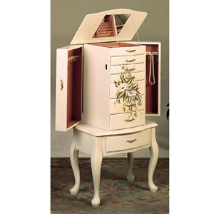 Jewelry Armoire In Off White 4022(CO)